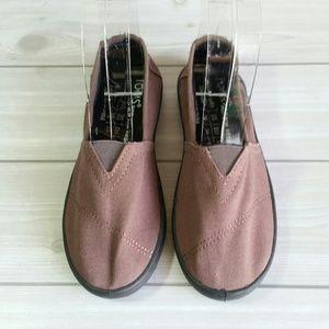 Kid's Toms Comfort Shoes Fla Slip On Brown Size Y2